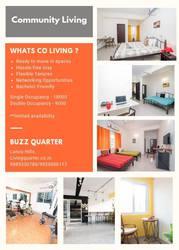 Studio Apartments, Rooms for rent Hyderabad, Gachibowli - Living quarter