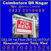 2BHR First Floor Independent House for Commercial Rent Trichy Road
