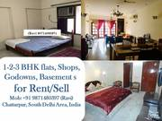 3bhk 2bhk 1bhk flat for rent in rajpur khurd
